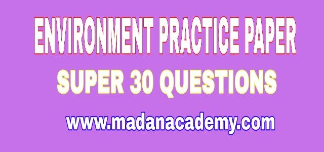 Environment Practice Questions with Answers